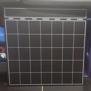 Calendar chalk board